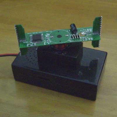 十字旋转led点阵电路板